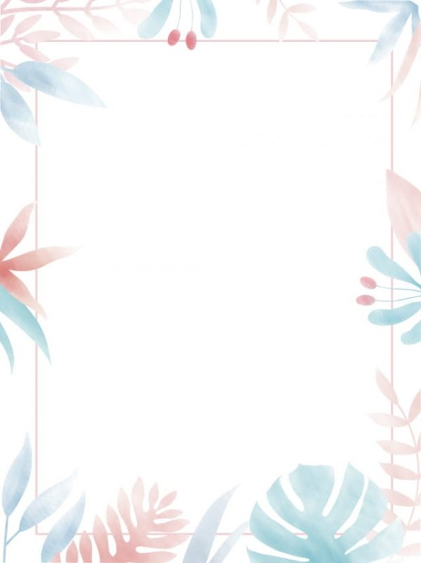 Pure Hand Painted Literary Minimalist Border Background (Turbo Premium Space)