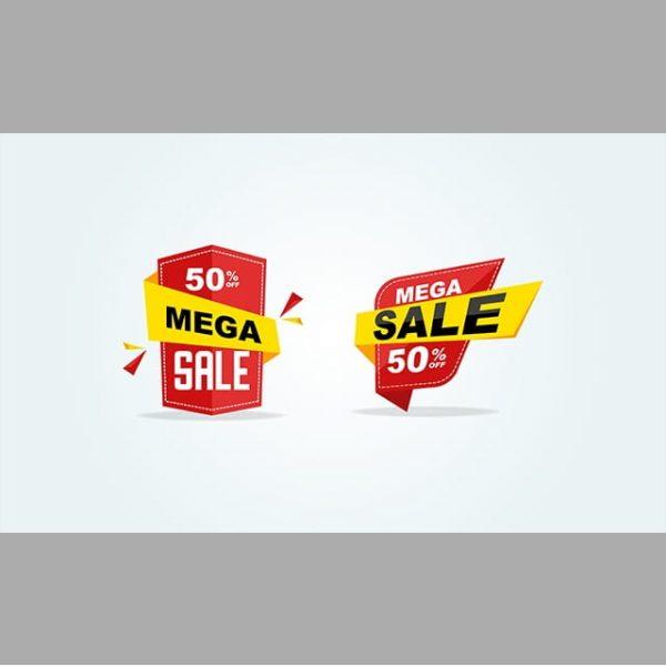 Red Big Sale Label 50 Offer Discount Big Sale Tag