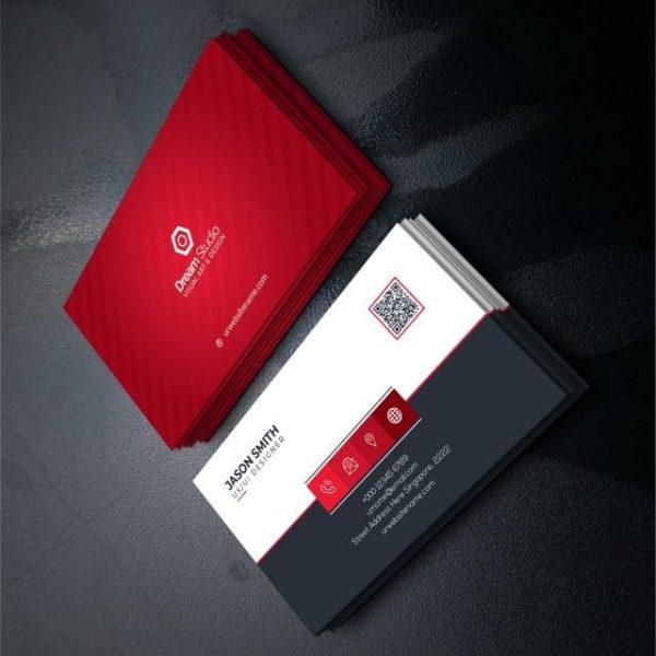Red Elegant Corporate Card