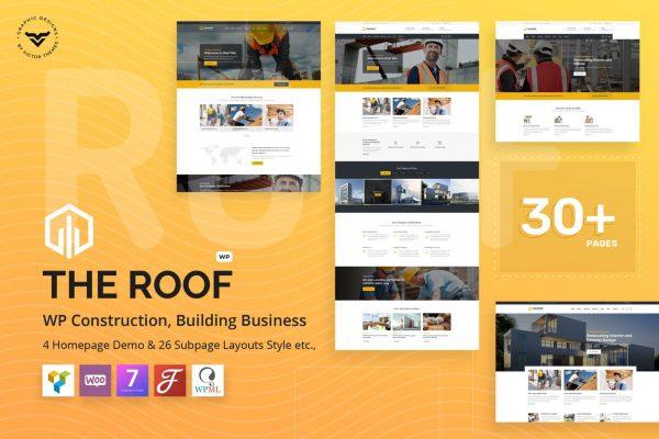 Roof - Construction, Building WordPress Theme