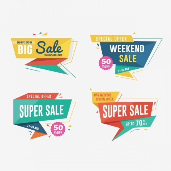 Sale Banner Design Set Discount And Promotion Banners (Turbo Premium Space)