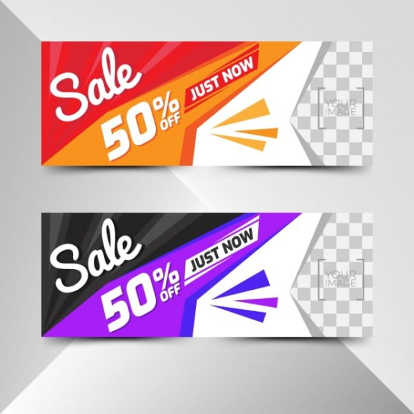 Sale Template Banner Vector Background