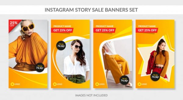 Sale banners set for instagram story and web (Turbo Premium Space)