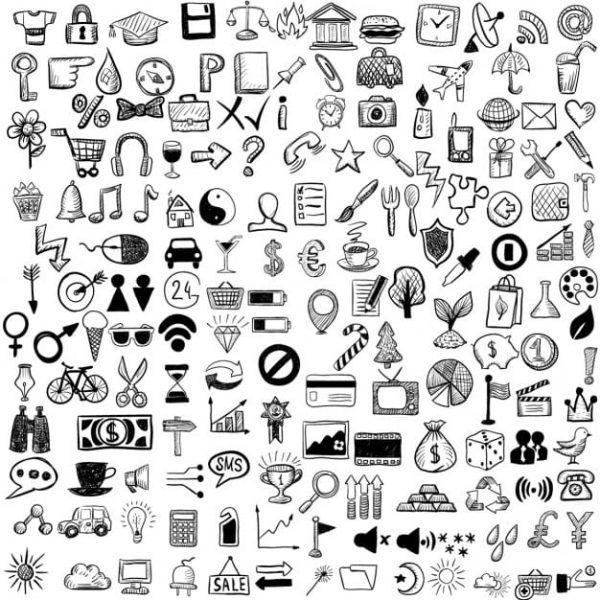 Set of hand drawn icons (Turbo Premium Space)