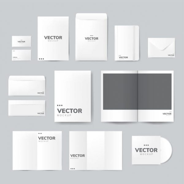 Set of printing material designs (Turbo Premium Space)
