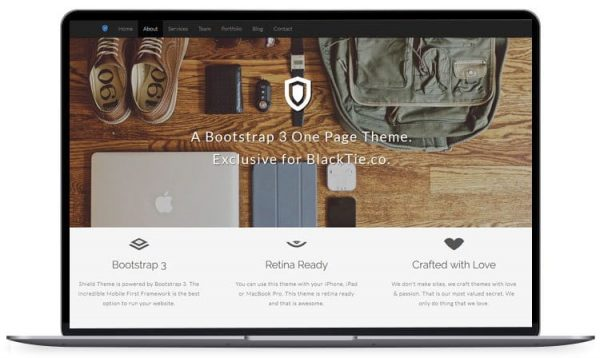 Shield – One Page Corporate Theme