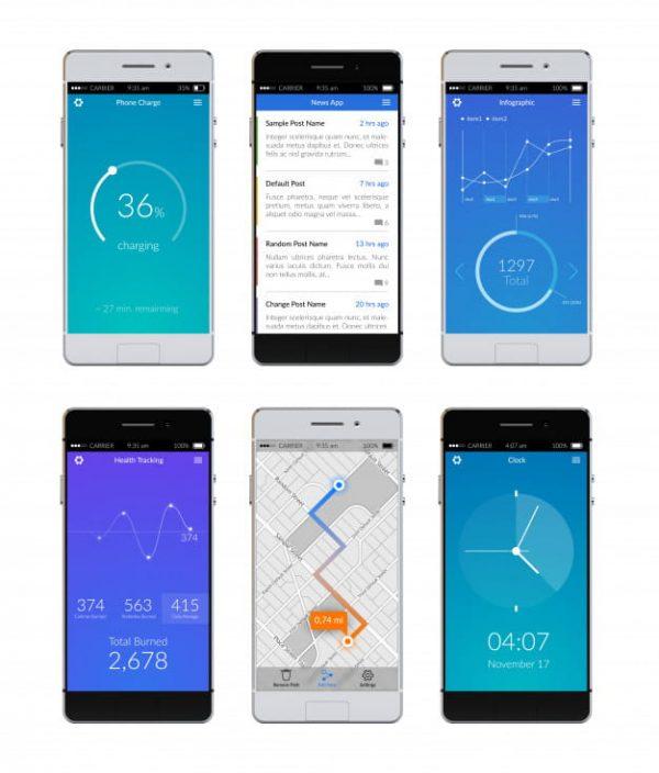 Smartphone ui set (Turbo Premium Space)