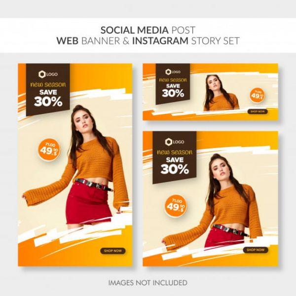 Social media post web banner