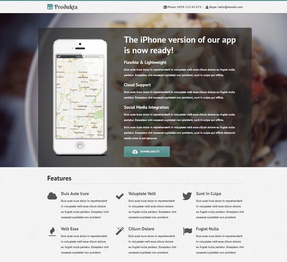 Template Produkta: 4 HTML Templates in One
