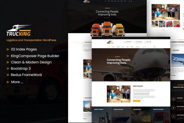 Trucking - Logistics and Transportation WordPress