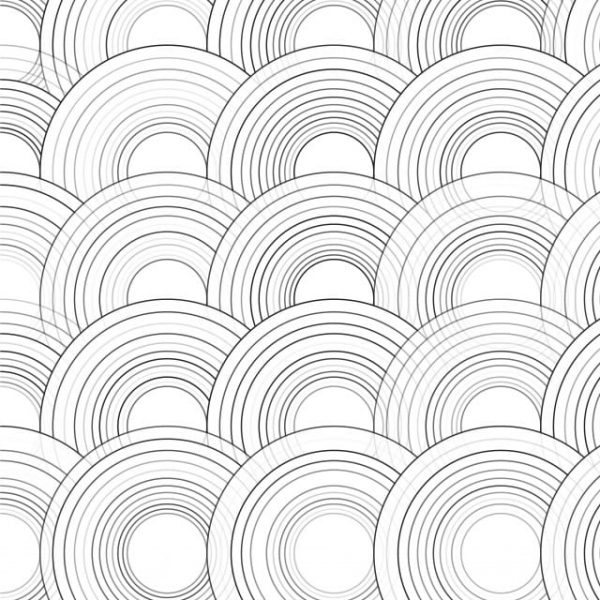Vector Abstract Hand Drawn Geometric Pattern