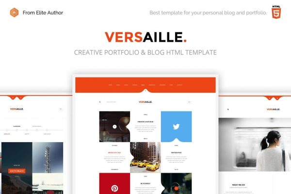 Versaille - Personal Blog HTML5 Template