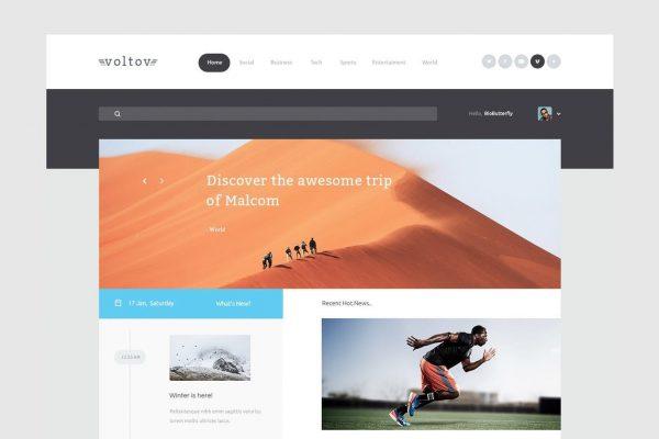 Voltov - Blog and Magzine HTML Template