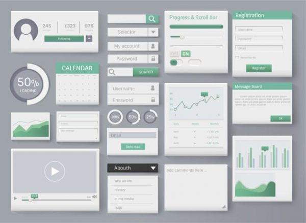 Web element layout template (Turbo Premium Space)