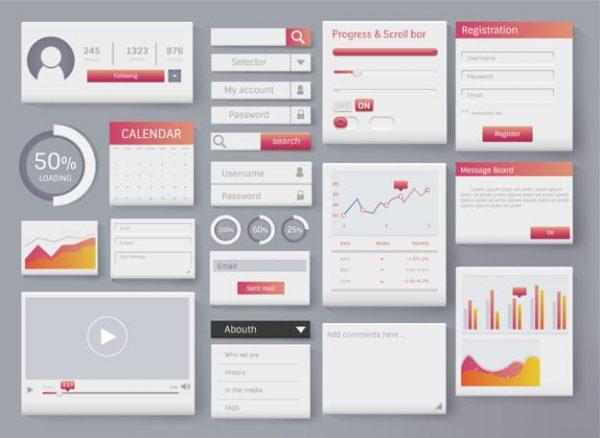 Web element layout template