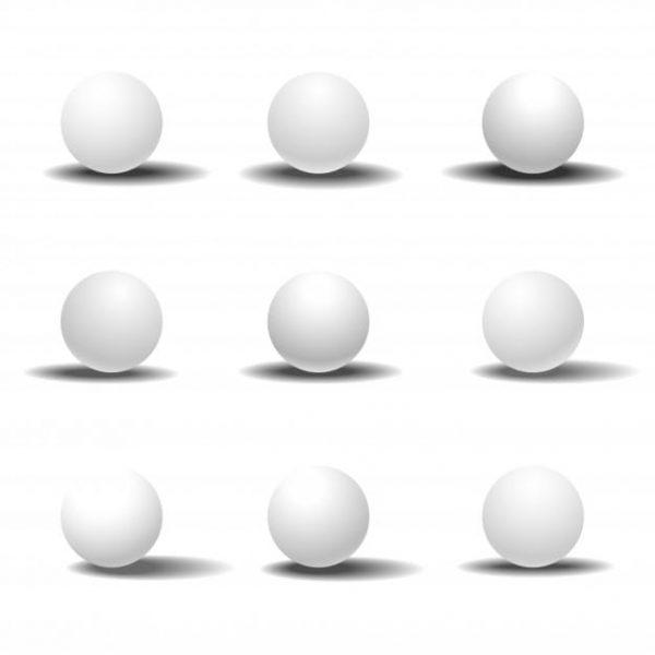 White 3d sphere set with (Turbo Premium Space)