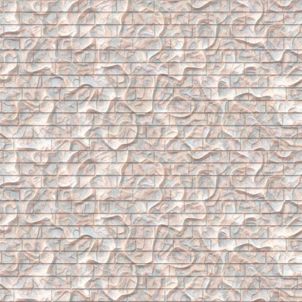White Organic Brick Texture Background (Turbo Premium Space)