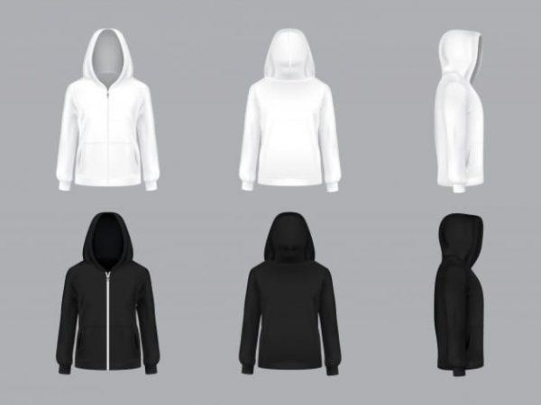 White and black hoodie (Turbo Premium Space)