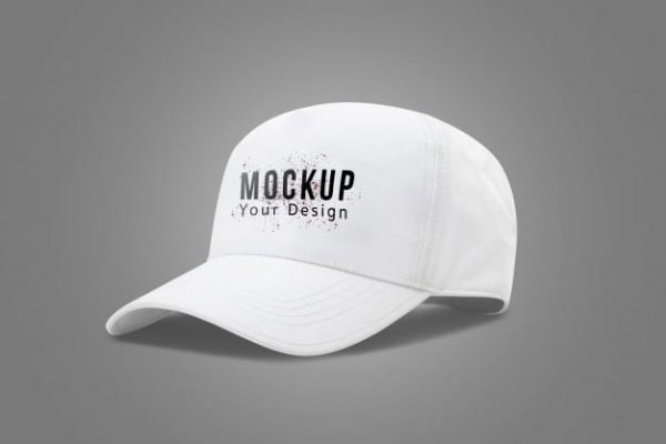 White baseball cap mock up (Turbo Premium Space)