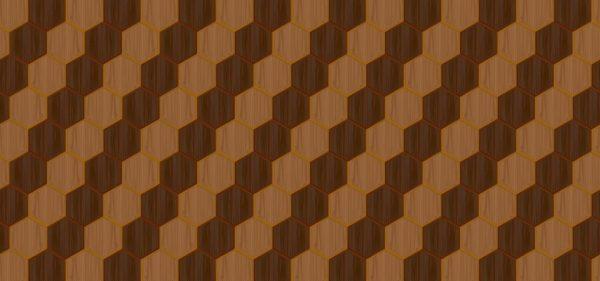 Wooden Hexagon Design Pattern Background (Turbo Premium Space)