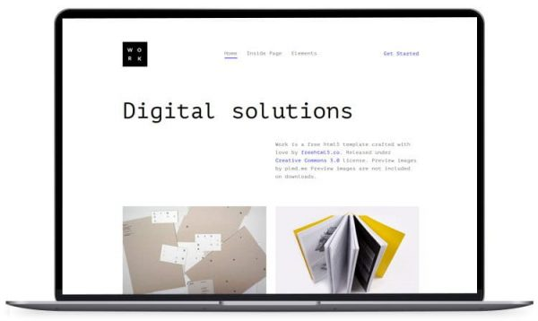 Work - Bootstrap Showcase HTML Template