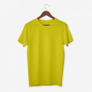 Yellow T Shirt Mockup