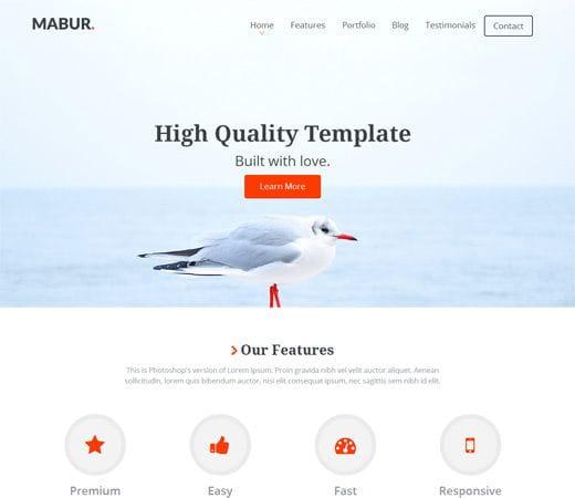 Mabur Portfolio Theme