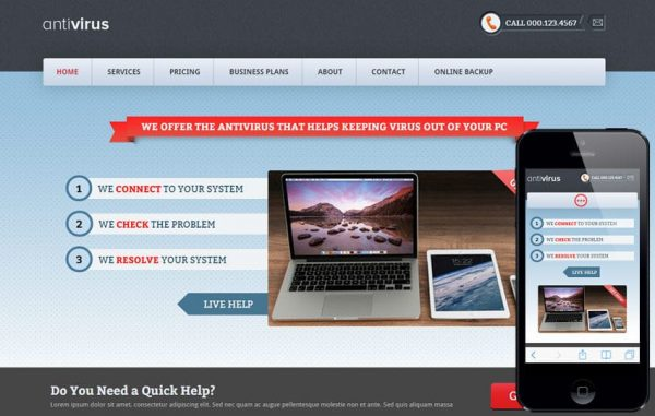 HTML Photography Mobile Website Template