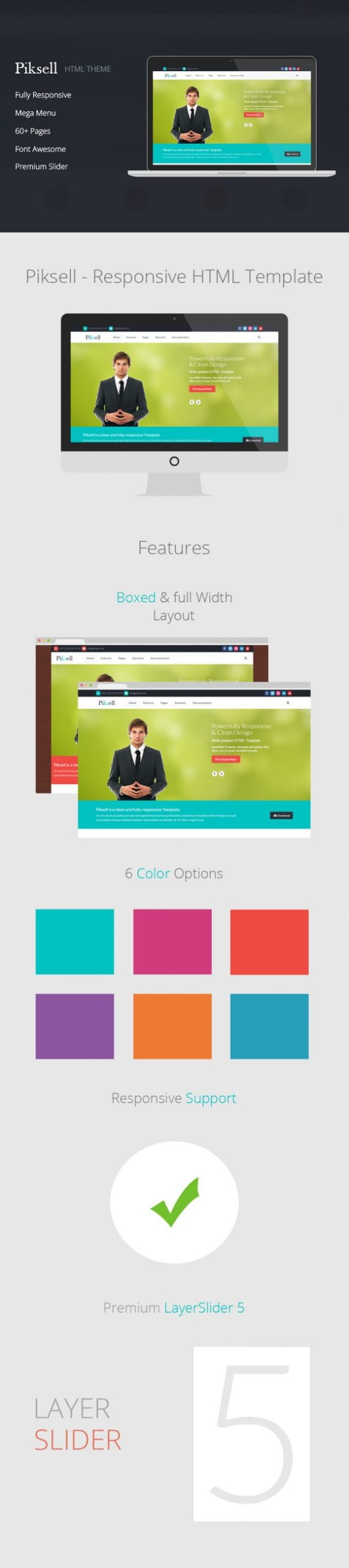 Piksell - Multipurpose html Template