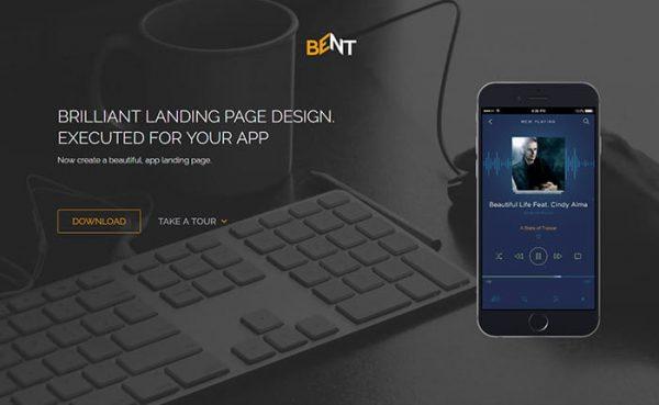 Bent – App Landing page