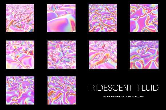 10 Iridescent Pink Fluid Texture Set (Turbo Premium Space)