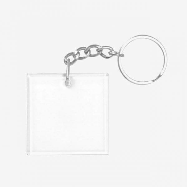 Blank Square Keychain