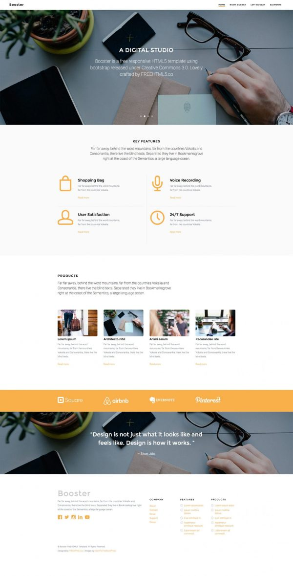 Booster- Bootstrap Business Templates