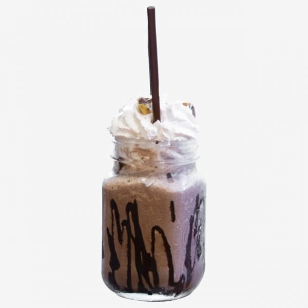 Blend And Cocoa Whipping Cream On Smoothies