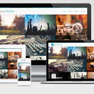 Cyrus Studio - Free Photography Template