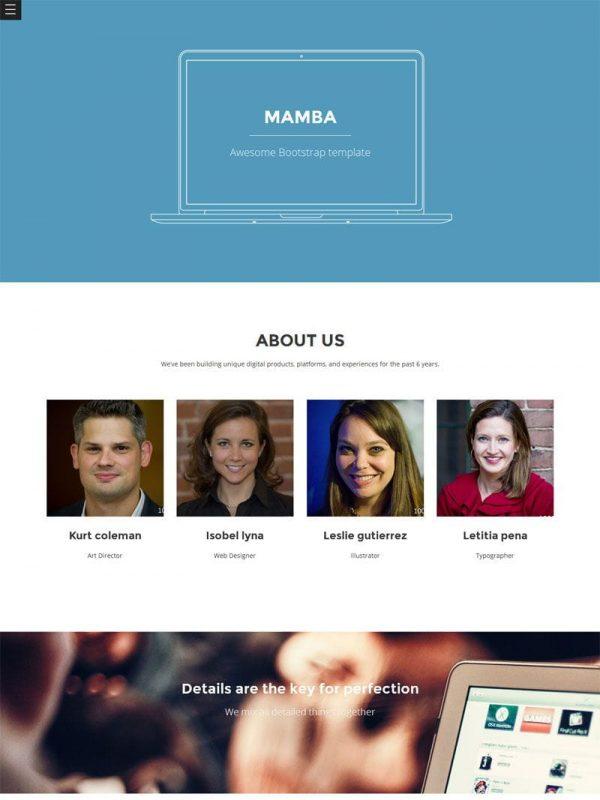 Mamba One Page Template