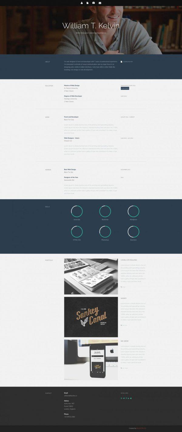 Kelvin – Resume HTML5 Template