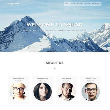 SquadFree – Bootstrap HTML Template