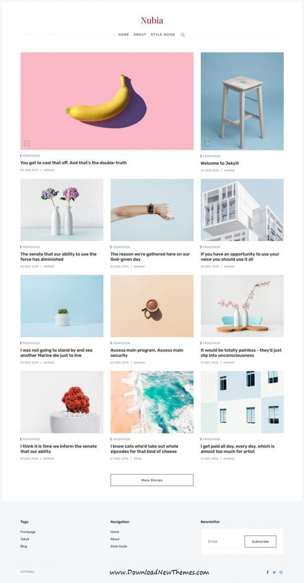 Nubia - Minimal Blog and Magazine Jekyll Theme