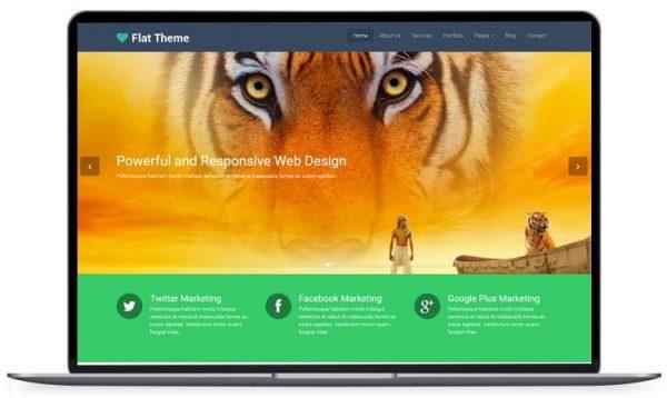 Flat Theme - Responsive Multipurpose Site Template
