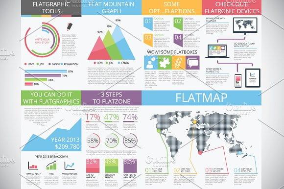 flat + infographics = flatgraphics (Turbo Premium Space)