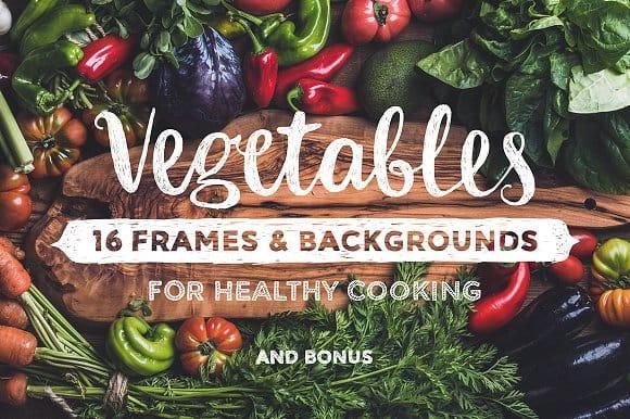 Vegetables. 16 frames & backgrounds (Turbo Premium Space)