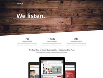 Timber – One Page Bootstrap Template