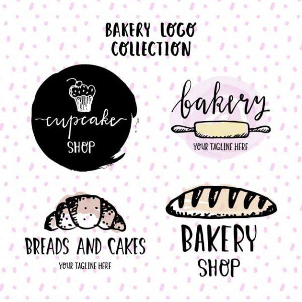 Hand-drawn-logos-bakery
