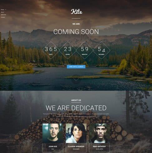 Kite - Responsive Coming Soon HTML5 Template