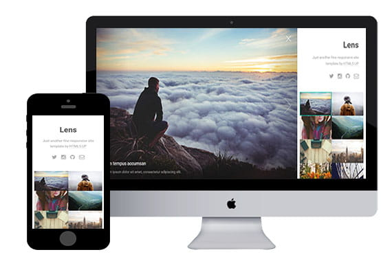Lens - Photography Website Template