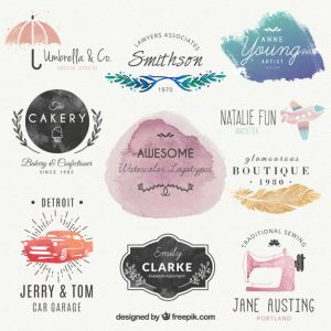 Lovely-watercolor-logos