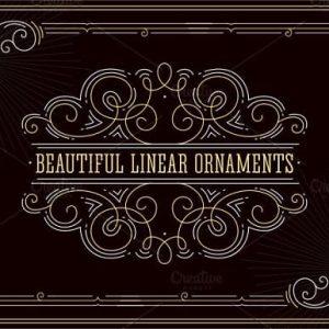 Beautiful linear ornaments