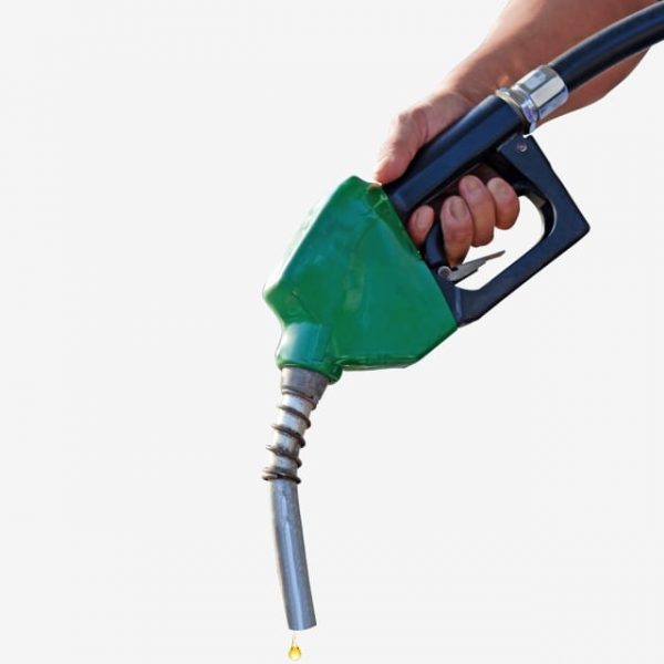 Men Hand Holding Oil Diesel Automatic Nozzle For Fuel Dispenser Gasohol 91 Gasoline Pistol Pump (Turbo Premium Space)