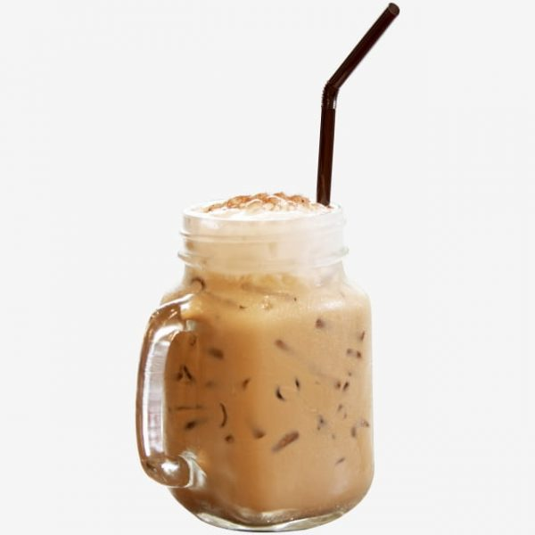 Tea Mixed With Whipped Cream Ice In A Jar (Turbo Premium Space)